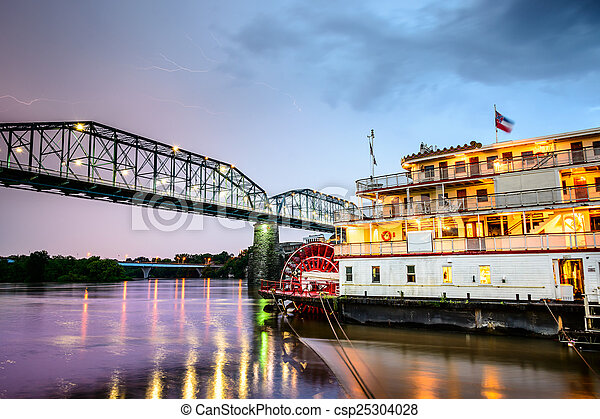 Chattanooga, Tennessee Riverboat - csp25304028