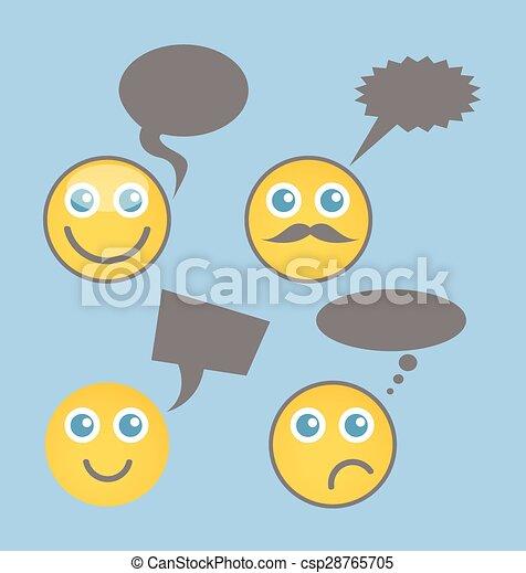 Chatting Smiley Set - csp28765705