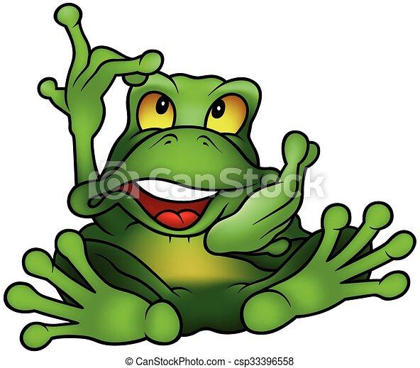 Chatty Green Frog - csp33396558