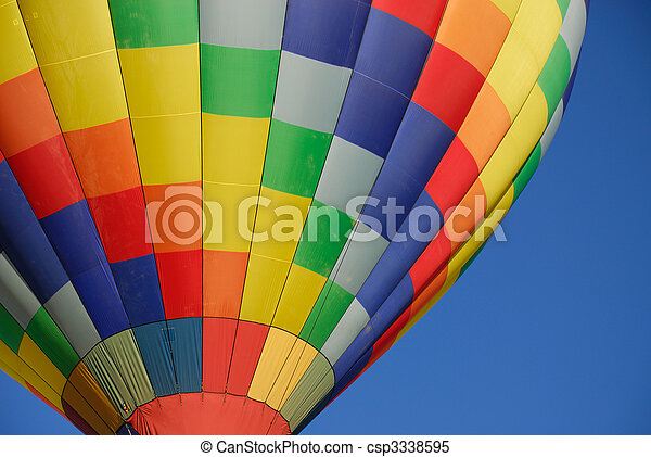 chaud, ballons, air - csp3338595