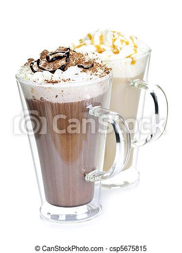 chaud, boissons, café, chocolat - csp5675815