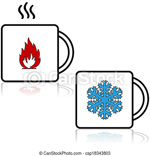 chaud, boissons, froid - csp18343803