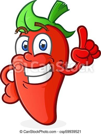 chaud, caractère, poivre, pointage, dessin animé - csp59939521