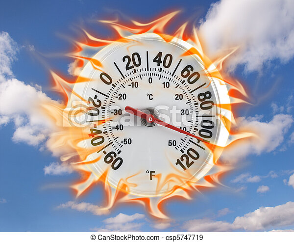 chaud, thermomètre - csp5747719