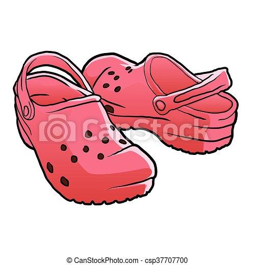 Qppeyha Vector Animé Croc Chaussures Dessin Vw7aqgg5 UR7Pxq