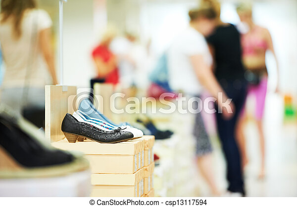 chaussures, magasin, chaussure - csp13117594
