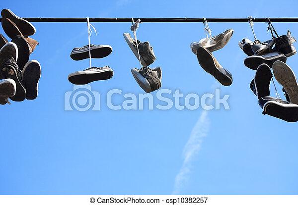 chaussures, porté - csp10382257