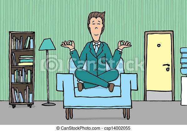Ufficio Disegno Yoga : Che esercita professione yoga ufficio uomo affari.