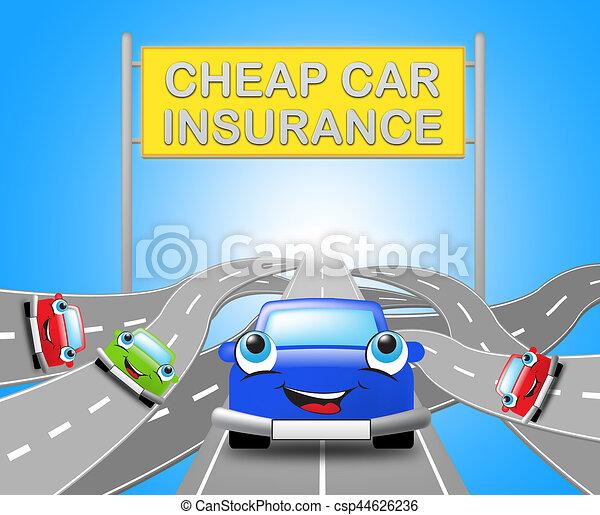 Cheap Auto Insurance >> Cheap Car Insurance Sign Auto Policy 3d Illustration