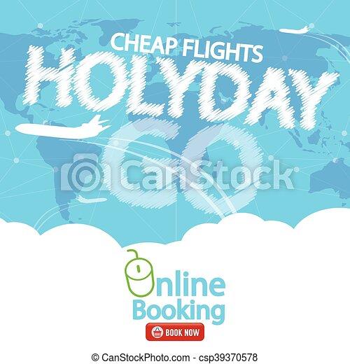 Cheap Flight For Sale Banner Vector - csp39370578