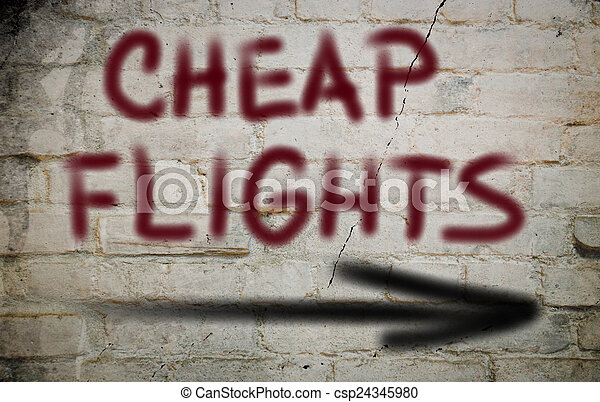 Cheap Flights Concept - csp24345980