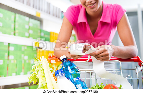 Cheap grocery store prices - csp23871801