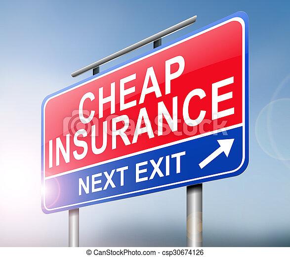 Cheap insurance concept. - csp30674126