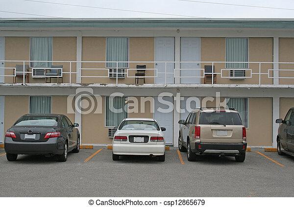 Cheap Motel Exterior - csp12865679