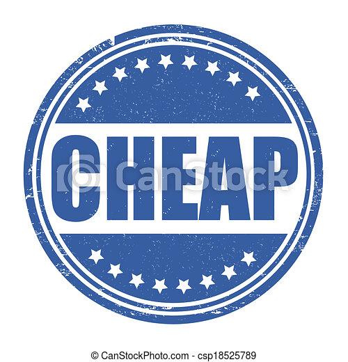Cheap stamp - csp18525789