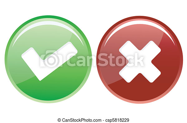 check and cross icons - csp5818229