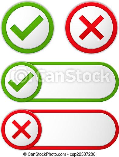 Check and Cross Symbols - csp22537286