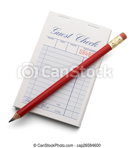 Check and Red Pencil - csp26584600
