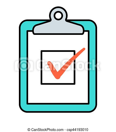 check box on clipboard icon checkbox with red check marks vector rh canstockphoto com check box clip art wd small check box clipart