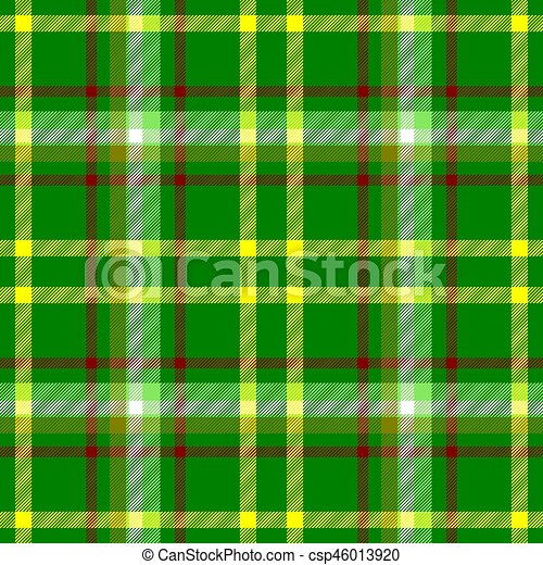 038424291ce0f check diamond tartan plaid fabric seamless pattern texture background -  vibrant green, yellow, red and white color