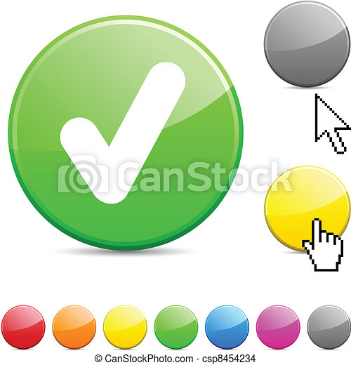 Check glossy button. - csp8454234