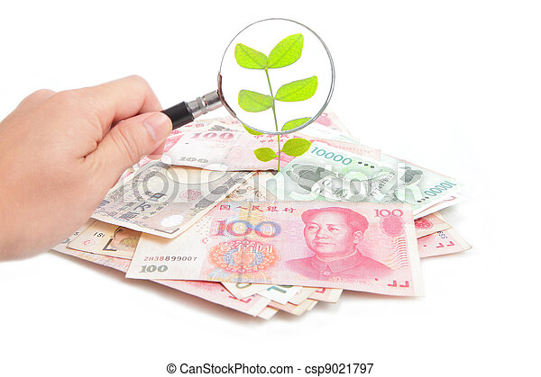check green plant from money - csp9021797