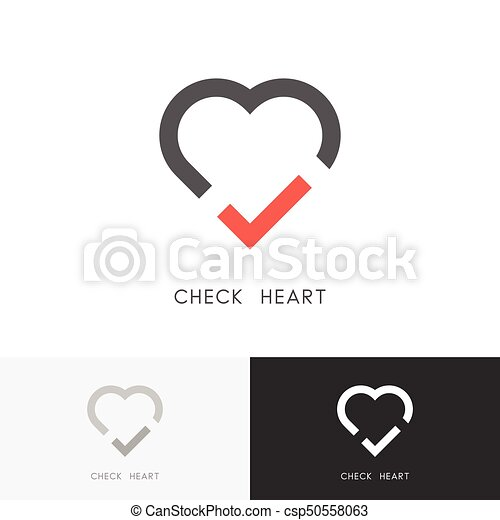 Check Heart Logo Red Tick Mark And Love Symbol Marriage Agency