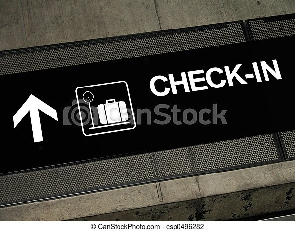 Check-in sign - csp0496282