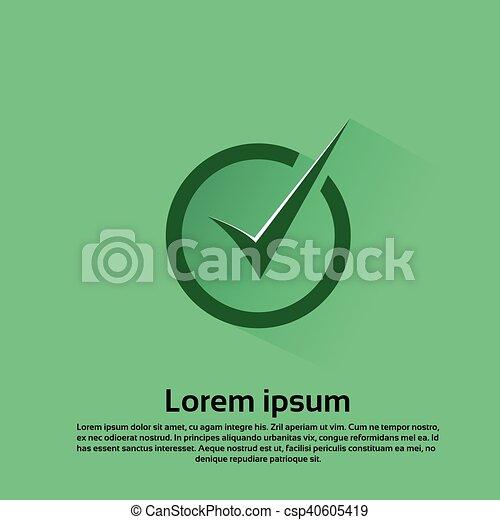 Check List Icon Tick Mark Button Flat Vector Illustration