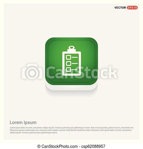 Check list ok Icon - csp62088957