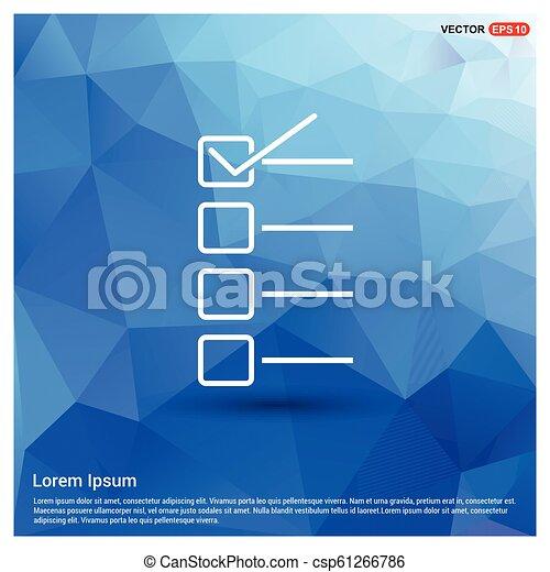 Check list ok Icon - csp61266786
