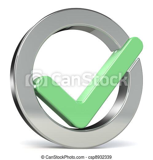 Check mark Green - csp8932339