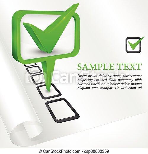 Check mark green vector illustration - csp38808359