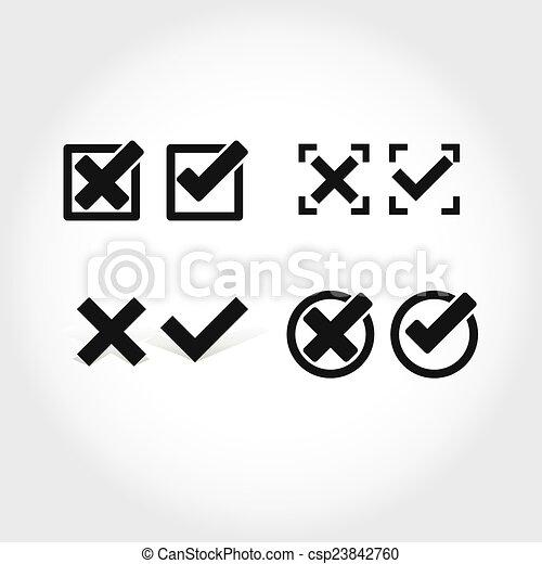 check mark icon - csp23842760