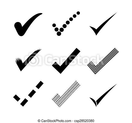Check mark icons - csp28520380