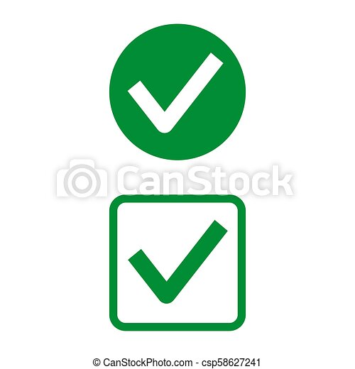 Check mark icons on white background. - csp58627241