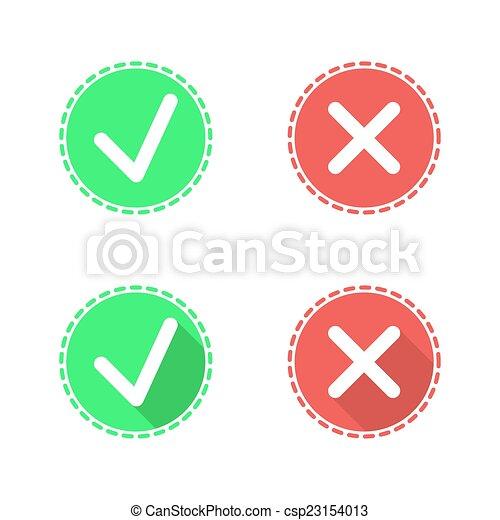 Check mark icons on white - csp23154013