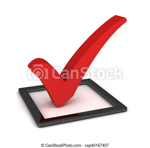 check mark isolated 3d illustration - csp40167407