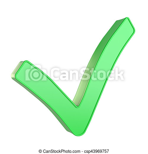 Check mark isolated on white background - csp43969757