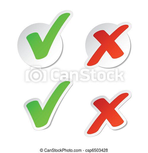 Check mark stickers - csp6503428