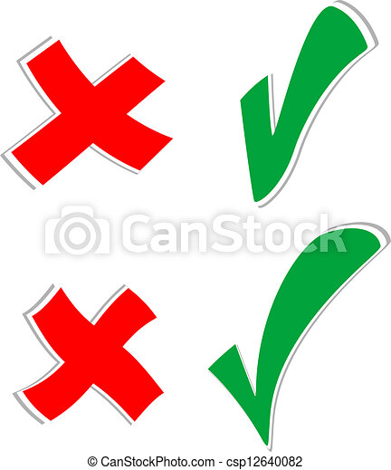 Check mark stickers set isolated on white - csp12640082