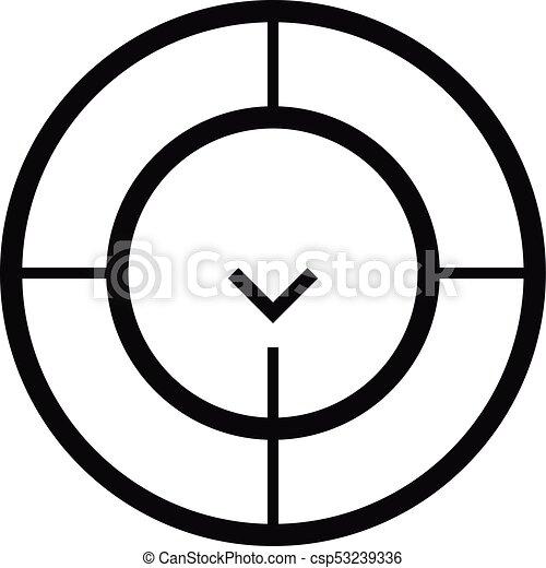 Check Of Radar Icon Simple Style Check Of Radar Icon Simple