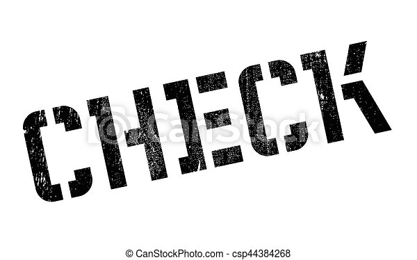 Check rubber stamp - csp44384268