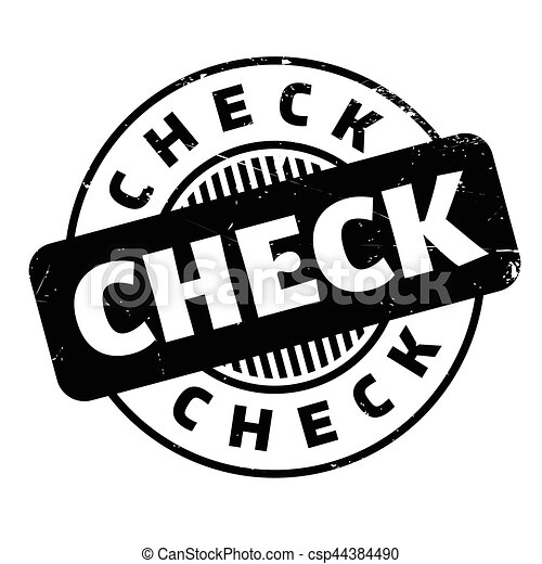 Check rubber stamp - csp44384490