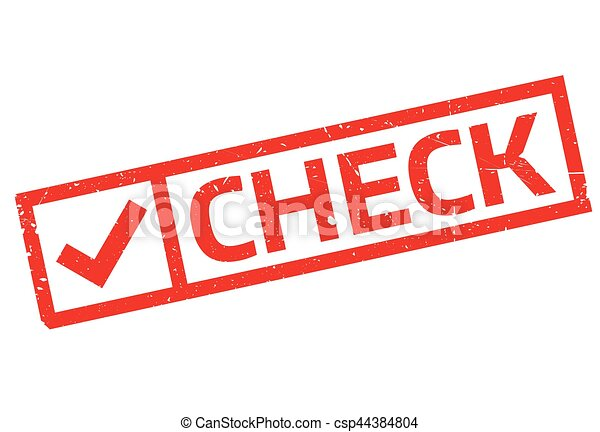 Check rubber stamp - csp44384804