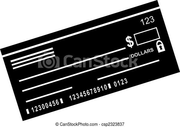 checkbook, pictogram - csp2323837