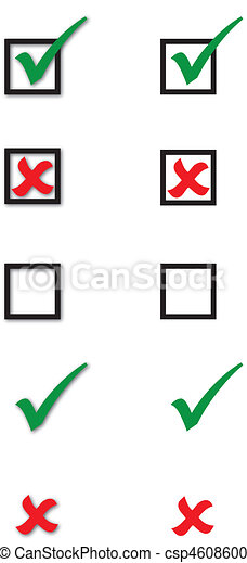 checkbox, カチカチいいなさい, 交差点, コレクション - csp4608600