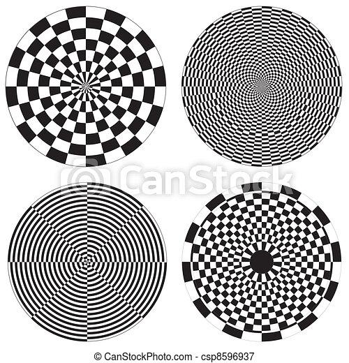 Checkerboard, Dartboard Designs - csp8596937