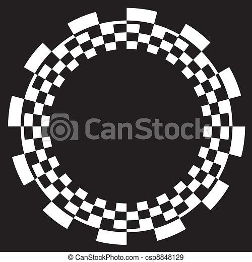 Checkerboard Frame, Spiral Pattern - csp8848129