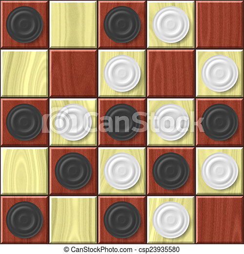 Checkerboard generated seamless texture - csp23935580